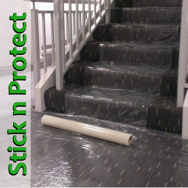 Carpet Plastic Protection Film Self Adhesive Sticky Back